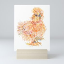 Silkie Chicken - Sweet Potato Mini Art Print