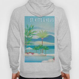 St. Kitts and Nevis - Skyline Illustration by Loose Petals Hoody