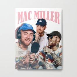 Mac Miller Rap Static Mixer Art Print 4 Metal Print