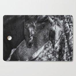 Mica and Malpais BW - Pryor Mustangs Cutting Board