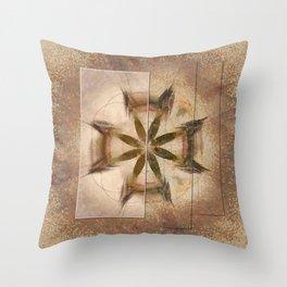 Romyko Impression Flower  ID:16165-085322-56301 Throw Pillow