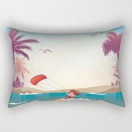 Kite surfer Woman Theme Rectangular Pillow