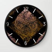 Detailed diamond, bordeaux glow Wall Clock