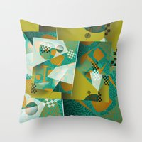 planes Throw Pillows featuring Planes by DARWIN STEAD