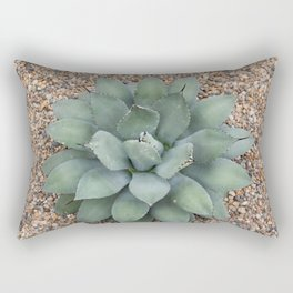 Blooming Succulent Rectangular Pillow