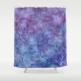 Frozen Leaves 4 Shower Curtain