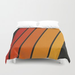 Retro 70s Stripes Duvet Cover