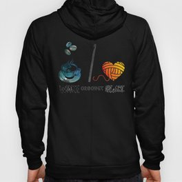 Wake Crochet Slay - Fiber Arts Quote Hoody