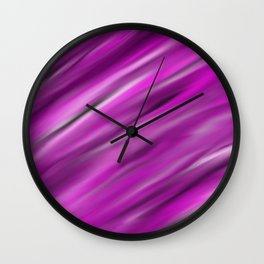 Purple Velvet - Abstract, smooth, pink, purple, silk, silky, velvet painting Wall Clock