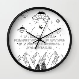 UFO Abduction Wall Clock
