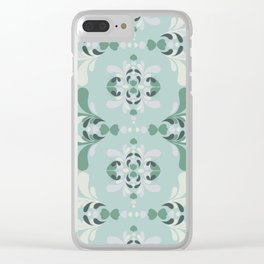 Vintage Butterfly Paisley Print Clear iPhone Case