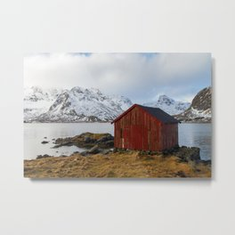 The red shed Metal Print