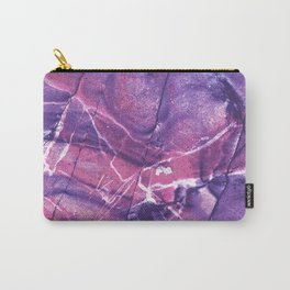 Smokey Ultra Violet and Pink Marble Carry-All Pouch