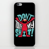 elmo iPhone & iPod Skins featuring Crazy Elmo by Chris Piascik