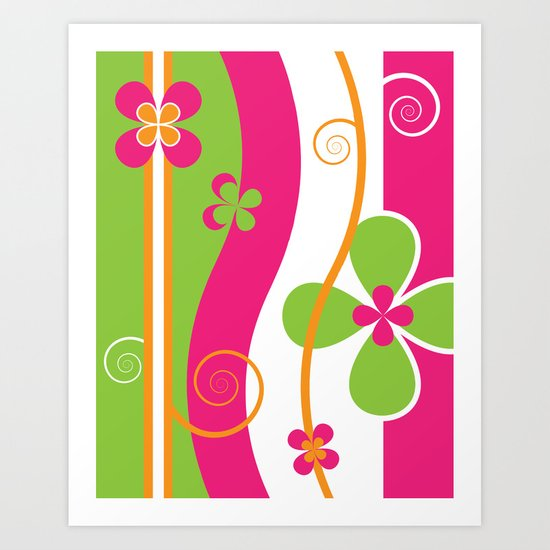 Colorful Spring Floral Graphic Art II Art Print