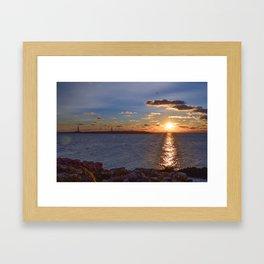 Twin Light Sunrise Framed Art Print
