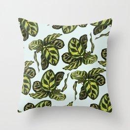 calathea pattern fresh Throw Pillow
