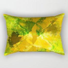 Wind Fans - Multi Greens Digital Abstract Texture Rectangular Pillow