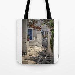 Eva's Cafe Mykonos Tote Bag