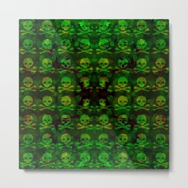 Poison Skull and XBones Metal Print