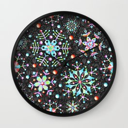 Snowflake Filigree Wall Clock