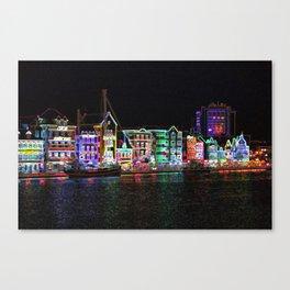Neon Nights on Curacao Canvas Print