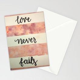 LoveNeverFails Stationery Cards