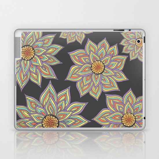 Floral Rhythm In The Dark Laptop & iPad Skin