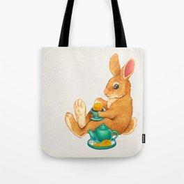 Tea Time Bunny Tote Bag