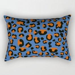 Jungle - Leopard Pattern Blue Rectangular Pillow