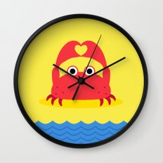 I Love the Beach Wall Clock