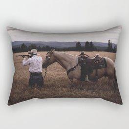 Happy Montana Day Rectangular Pillow