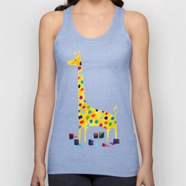 Paint by number giraffe Unisex Tank Top