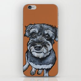 Frankie the Schnoodle iPhone Skin