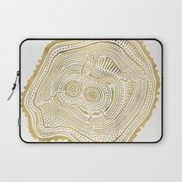 Peachleaf Willow – Gold Tree Rings Laptop Sleeve