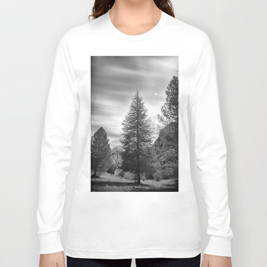 """""""Looking for the sky"""" Into the woods... BW Long Sleeve T-shirt"""