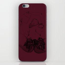 Wine vagina flower iPhone Skin