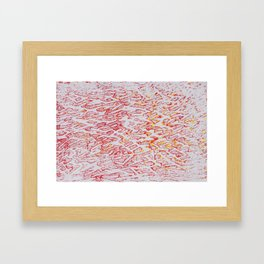 Brushed Red, Yellow, Silver Painting Framed Art Print