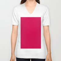 spanish V-neck T-shirts featuring Spanish carmine by List of colors
