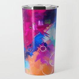 Scrap Paint 1 - Colorful abstract art Travel Mug
