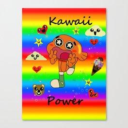 Darwin Kawaii Power! Canvas Print
