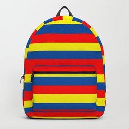 andorra Ecuador romania moldova chad colombia orkney flag stripes Backpack