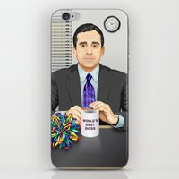 michael scott iPhone & iPod Skins featuring Steve Carell as Michael Scott (The Office) by Leo Maia