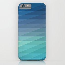 Fig. 042 Blue Geometric Gradient Stripes iPhone Case