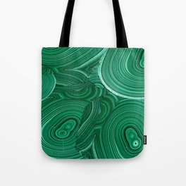 Green Malachite Nature Pattern Design Abstract Tote Bag