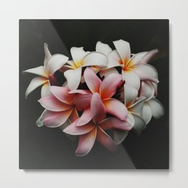 Flowers In The Dark Metal Print