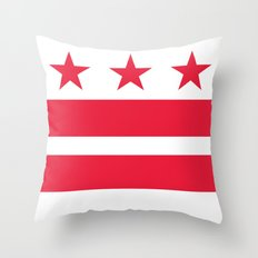 Washington D.C Flag, High Quality image Throw Pillow