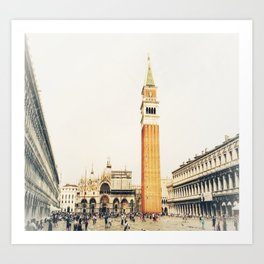 la Piazza Art Print