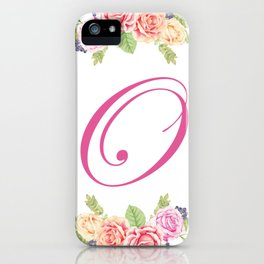 Floral Initial Letter O iPhone Case