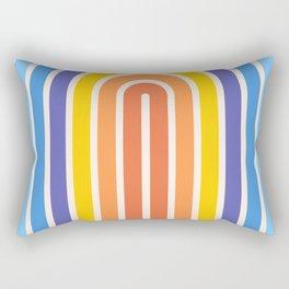 Retro Rainbow Stripes Rectangular Pillow
